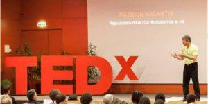 Patrice valantin intervenant à la conférence TedX